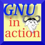 [�GNU in action� icon]