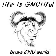 ['Life is GNUtiful - brave GNU world´ Thumbnail]