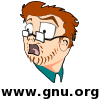 An avatar based on an amusing alternative to the GNU Head, of Stuart Langridge, free software developer and host of the GNU/Linux radio show, Lugradio