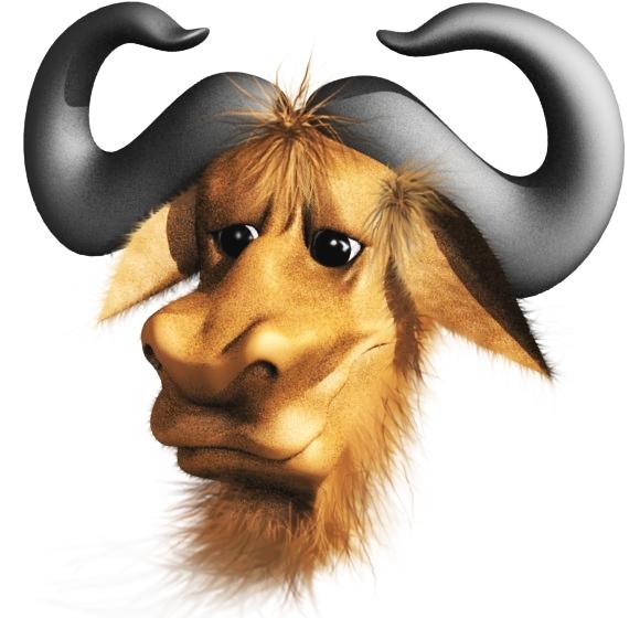 De mascotte van het GNU project.