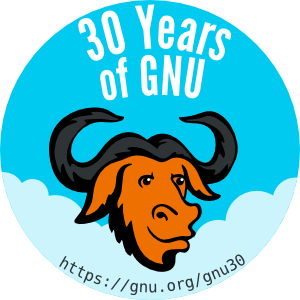 [30 Years of GNU badge]