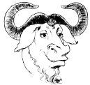 Happy gnu head