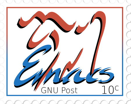 [Emacs logo in a stamp]