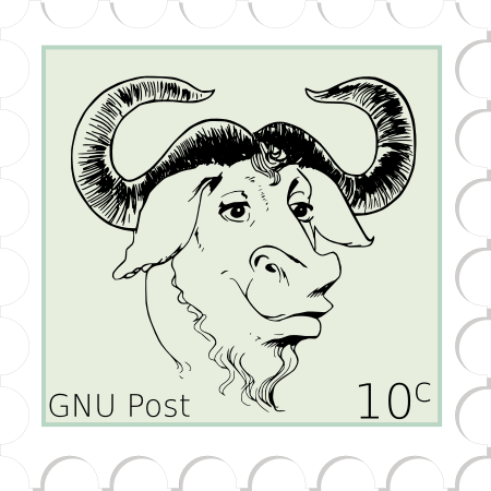 [Original GNU Post stamp]