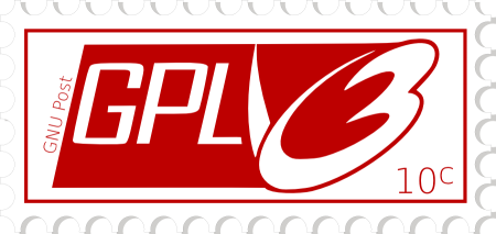 [GPLv3 logo in a stamp]
