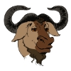 [Image colored GNU head GNU]