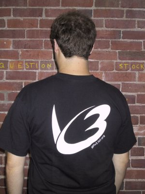 Black GPLv3 t-shirt, back
