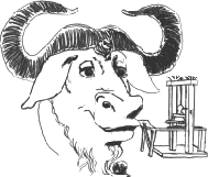 [image of the Head of a GNU   with a printing press]