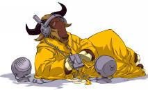 image of a listening gnu