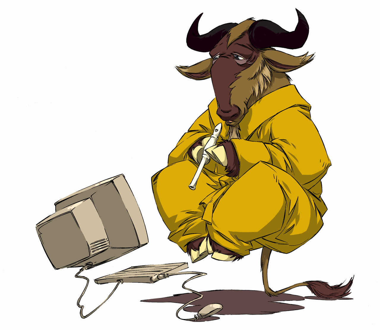 GNU Project - Levitating, Meditating, Flute-playing Gnu - Free ...