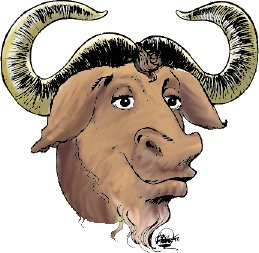 [Colored GNU head]