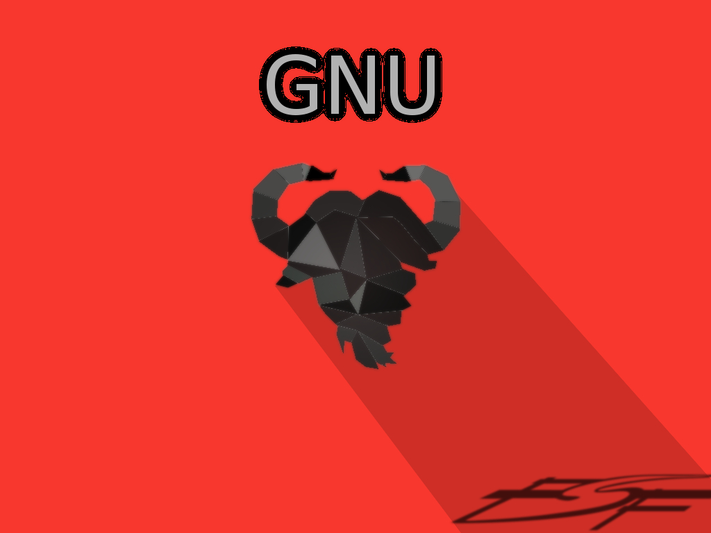 [GNU Flat Design artwork]