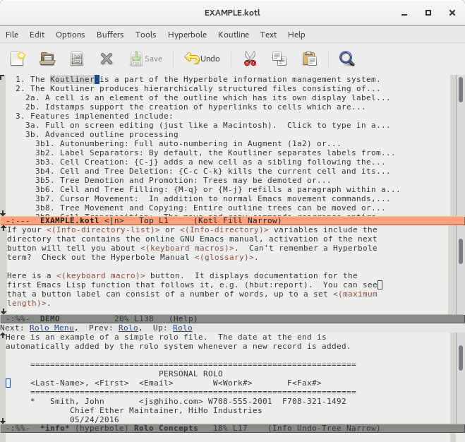 Gnu Hyperbole The Everyday Hypertextual Information Manager