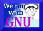 [�We run with GNU� icon]