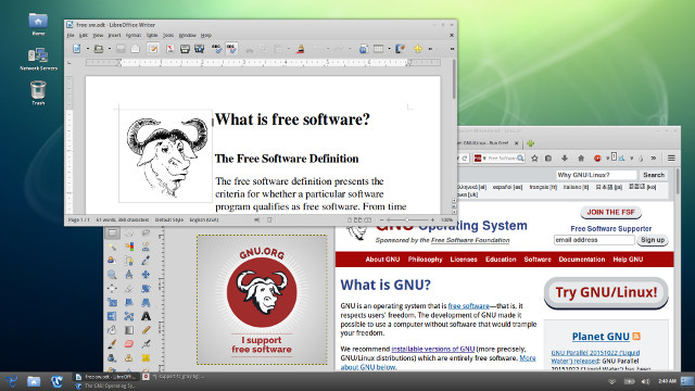Screenshot of GNU