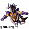 An avatar based on The Dynamic Duo: The Gnu and the Penguin in flight