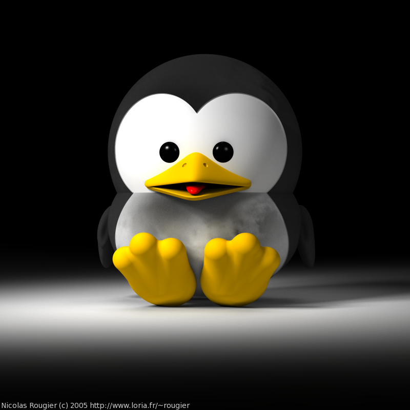 3D Baby GNU and Tux by Nicolas Rougier - GNU Project ...