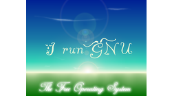 [I Run GNU wallpaper]