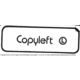 "[""Copyleft (L)"" sticker]"