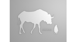 [Gnu and Tux wallpaper, white shapes]
