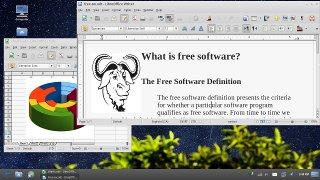 Pantalla de GNU