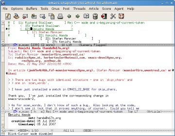 Gnus screenshot