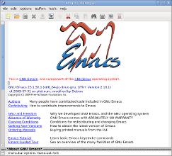 Emacs splash screen