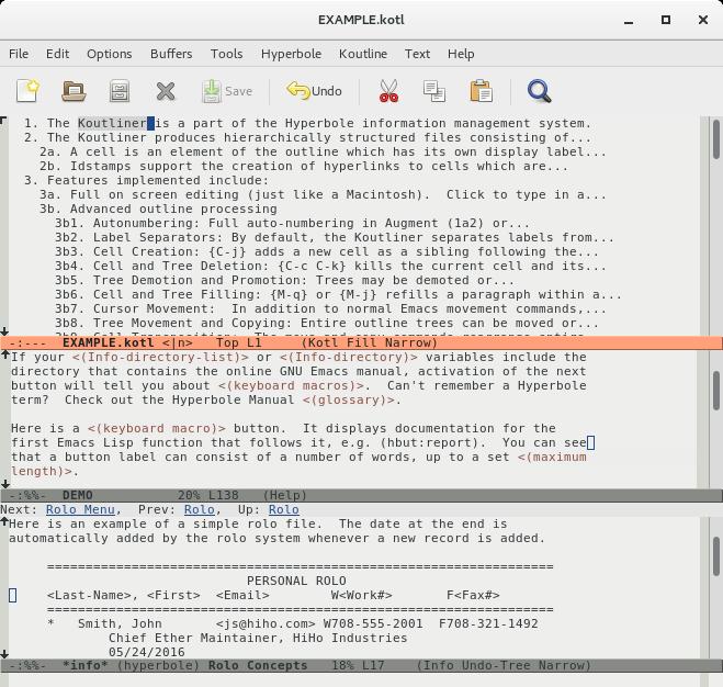 GNU Hyperbole - The Everyday Hypertextual Information Manager